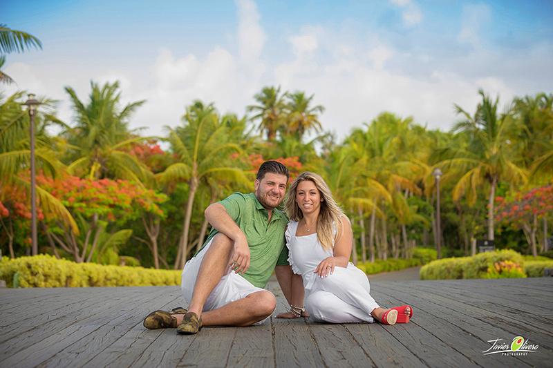 Austin-Taylor Engagement.  Bridge picture @ St Regis Bahia Beach Resort, Puerto Rico