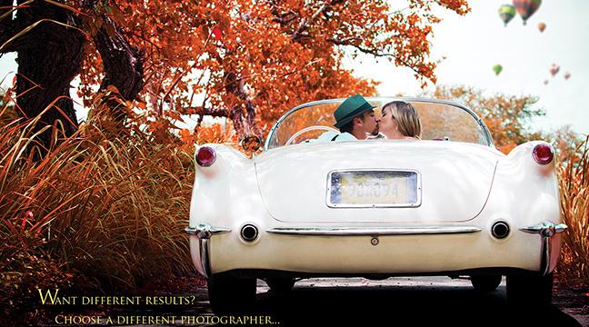 Kiss in a vintage car @ Arecibo, Puerto Rico