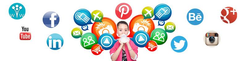 banner social media icons
